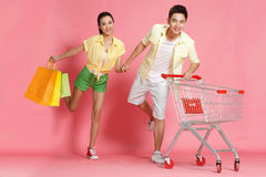 Young lovers shopping Stock Photos