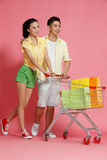Young lovers shopping Stock Photo