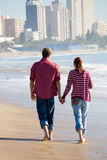 Young lovers strolling Stock Image