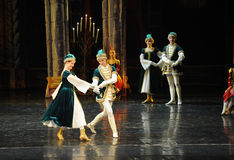 Young lovers-Ukraine national song and dance-ballet Swan Lake Stock Images
