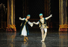 Young lovers-Ukraine national song and dance-ballet Swan Lake Stock Photos