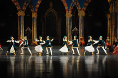 Young lovers-Ukraine national song and dance-ballet Swan Lake Stock Photo