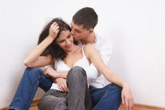 A young and loving brunette Caucasian couple Stock Image