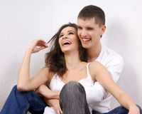 A young and loving Caucasian couple Royalty Free Stock Photography