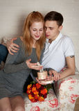 Young, a loving couple Stock Photography