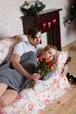 Young, a loving couple Royalty Free Stock Photography