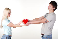 Young loving couple Royalty Free Stock Photo