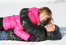 Young loving couple on the nature, love story Stock Photos