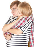 Young loving couple embracing Stock Image