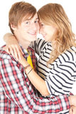 Young loving couple embracing, Royalty Free Stock Photography