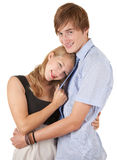 Young loving couple embracing Royalty Free Stock Photos