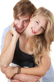 Young loving couple embracing Royalty Free Stock Photo