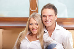 Young loving couple hugging Royalty Free Stock Image