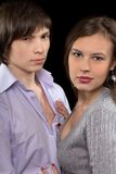 Young loving couple. Isolated Royalty Free Stock Photo