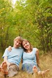 Young loving couple in nature Stock Photos
