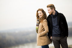 Young loving couple outdoor Stock Image
