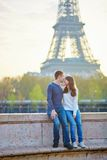 Young loving couple in Paris Stock Images
