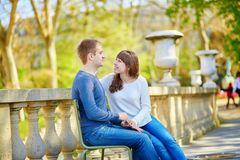 Young loving couple in Paris Royalty Free Stock Images
