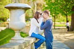 Young loving couple in Paris Royalty Free Stock Image