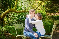 Young loving couple in Paris Royalty Free Stock Photo