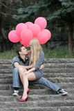 Young loving couple in park Royalty Free Stock Photography