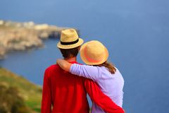 Young loving couple on scenic sea vacation Stock Photo