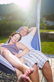 Young loving couple in the summer Stock Photography