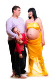 Young loving family Royalty Free Stock Image
