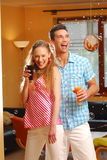 The young loving pair on the party Royalty Free Stock Photo