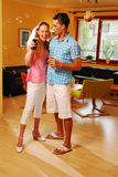 The young loving pair on the party Stock Photography