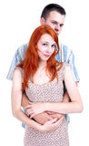 Young loving people hugging each other Stock Photography