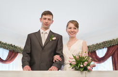 Young loving wedding couple Stock Photography