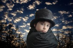 Young magician in the dawn Royalty Free Stock Images