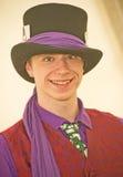 A young magician at the Marymas Fair. Royalty Free Stock Image