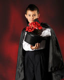 A Young Magician's Roses Stock Images