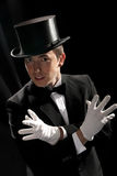 Young Magician With High Hat Stock Image