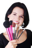 Young make-up artist Royalty Free Stock Photography