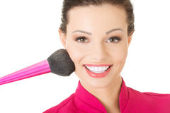 Young make-up artist Stock Image