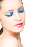 Young makeup beauty. Stock Photo
