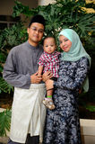 Young Malay Family Portrait Stock Photography