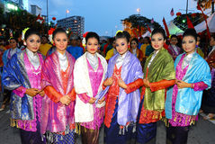 Young malay teens. In traditional costumes Stock Images