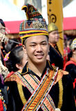 Young Malaysian man in traditional costume Royalty Free Stock Photos