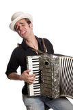 Young male with accordion 05 Stock Image