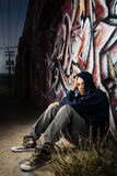 Young Male in Alley Stock Photos