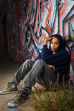 Young Male in Alley Stock Images