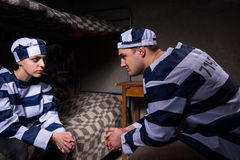 Free Young Male And Female Prisoners Wearing Prison Uniform Sitting A Royalty Free Stock Photos - 92474018