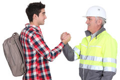 Young male apprentice Royalty Free Stock Photo