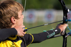 Young male archer. Stock Photo