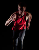 Young male athlete running Royalty Free Stock Image