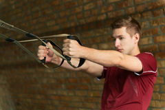 Young male athlete training his body Stock Photo